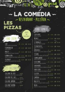 exemple de carte de menu